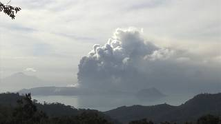 Black smoke spews out of Philippines volcano as Manila airport closes