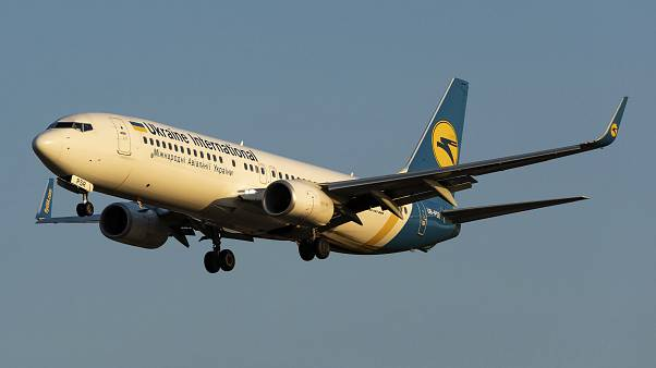 FILE - In this file photo taken on Friday, Sept. 13, 2019, showing the actual Ukrainian Boeing 737-800 UR-PSR plane that crashed Wednesday Jan. 8, 2020