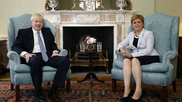 Scotland's First Minister Nicola Sturgeon with Prime Minister Boris Johnson