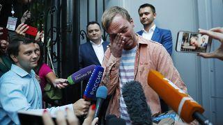 Иван Голунов на свободе