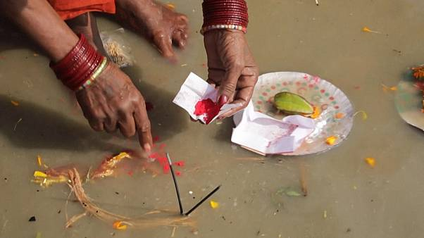 Millions of Hindus gather to take 'holy dip' in the Ganges
