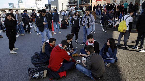 جانب من مظاهرات بيروت 14 يناير 2020
