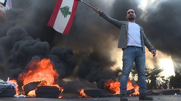حضور دوباره معترضان لبنانی در خیابانهای بیروت