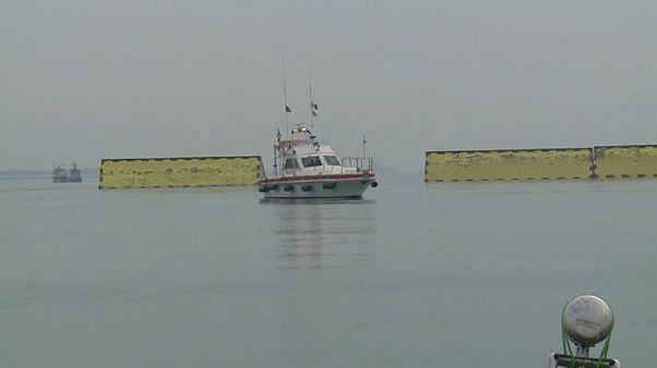Test concluant pour les digues à Venise
