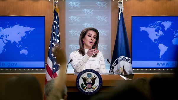 руководитель пресс- службы Госдепартамента США Морган Ортэгус