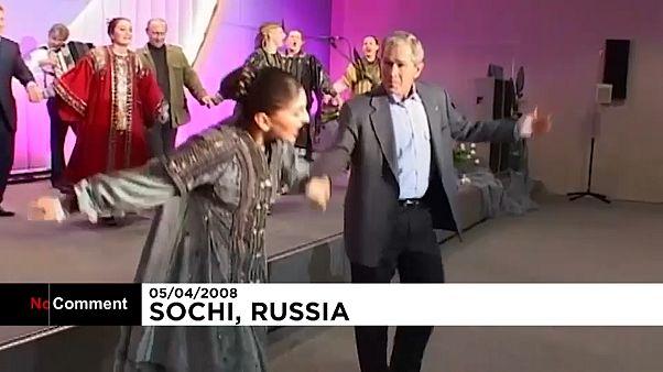 کرملین فایل ویدیوی رقص ولادیمیر پوتین و جورج بوش را منتشر کرد