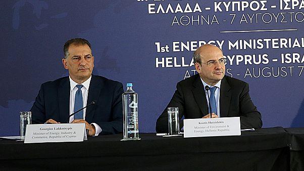 Ο Κωστής Χατζηδάκης  και ο Γιώργος Λακκοτρύπης