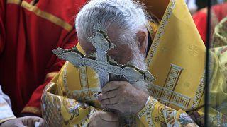 Католикос-Патриарх Грузии Илия II провёл 62-е массовое крещение.