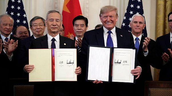 آتشبس در جنگ تجاری؛ چین و آمریکا فاز نخست توافق اقتصادی را امضا کردند