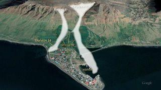 Avalanchas caem sobre aldeias islandesas