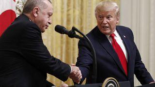 إردوغان وترامب خلال لقاء في 2019
