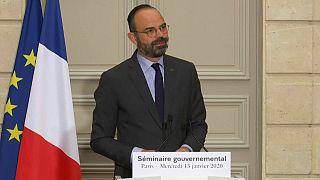 """Retraites : pour le Premier ministre français Edouard Philippe, """"la grève n'a que trop duré"""""""