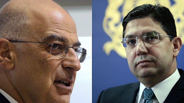 Yunanistan Dışişleri Bakanı Nikos Dendias / Fas Dışişleri Bakanı Nasır Burita
