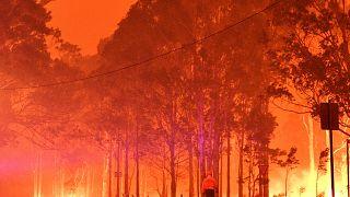 الحرائق المشتعلة بولاية ساوث ويلز في أستراليا. 31/12/2019
