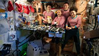 Space Station crew greet New Year across multiple time zones