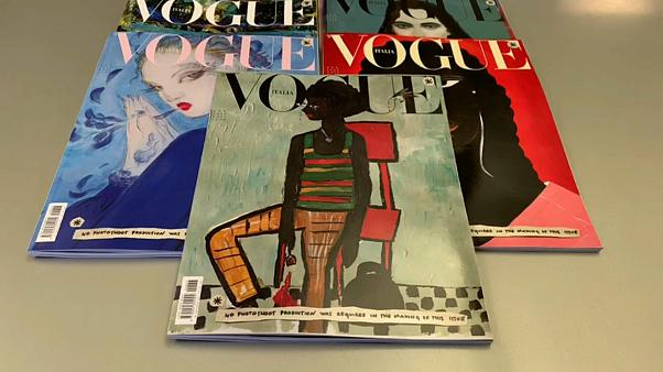 Pinturas sí, modelos no: Vogue Italia reta a la industria y apuesta por una visión más ecológica