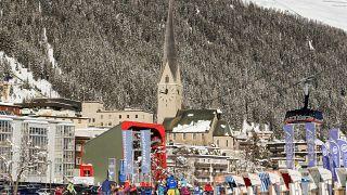 İsviçre'nin Davos kasabası