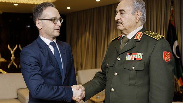 Almanya Dışişleri Bakanı Heiko Maas ile Halife Hafter, Libya'da görüştü