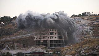 İsrail yönetimi tarafından Doğu Kudüs'te Filistinlilere ait yıkılan bir ev