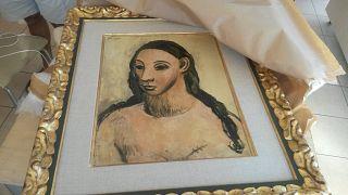 """Picasso'nun  """"Genç Bir Kadının Başı"""" adlı eseri"""