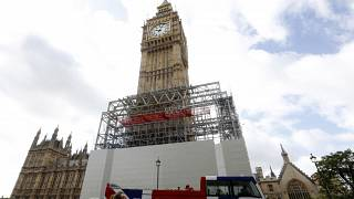 The Big Ben bell is due to sound the hour for the last time at noon on Aug. 21, 2017. File Thursday, August 3, 2017.