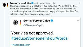 Alman Dışişleri Bakanlığı Twitter özür mesajı