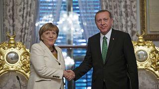 صورة نت الارشيف -  إردوغان مع أنجيلا ميركل