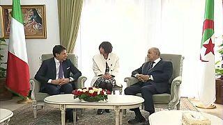 الرئيس الجزائري عبد المجيد تبون يستقبل رئيس الوزراء الإيطالي جوزيبي كونتي