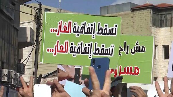 مئات الأردنيين يتظاهرون في عمان للمطالبة بإلغاء اتفاقية الغاز مع إسرائيل