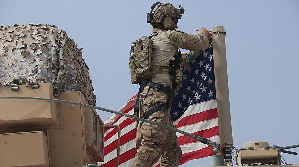 Orta Doğu'da görevli bir Amerikan askeri