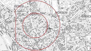 In Derendorf wurde eine tonnenschwere englische Weltkriegsbombe gefunden, die entschärft werden soll.