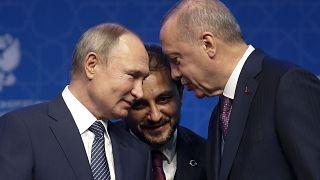 Rusya Devlet Başkanı Vladimir Putin ve Cumhurbaşkanı Recep Tayyip Erdoğan, 13 Ocak 2020