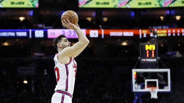 NBA'de 76ers'ı galibiyete taşıyan Furkan Korkmaz kariyer rekoru kırdı