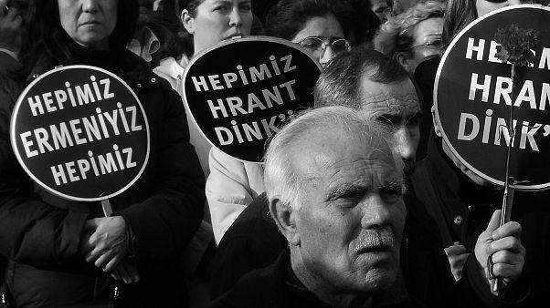 Agos Gazetesi eski Genel Yayın Yönetmeni Hrant Dink'in cinayete kurban gidişinin 13. yılında, her yıl olduğu gibi gazetesinin eski merkezinin önünde anılacak