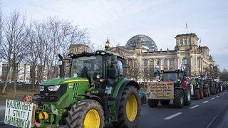 Agriculteurs et écologistes dans la rue à Berlin
