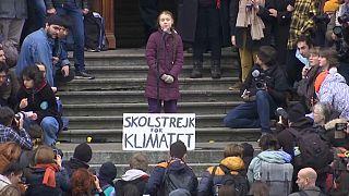 Greta Thunberg anuncia protestas ante la cumbre de Davos