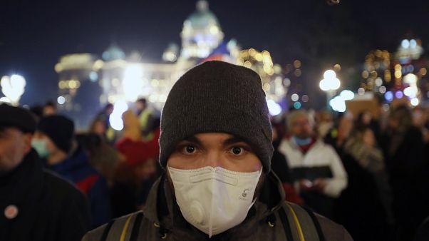 Belgrad: Protest gegen Winter-Smog auf dem Balkan
