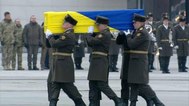 Flugzeugabschuss: Trauerfeier für elf ukrainische Opfer