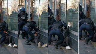 انتشار ویدئوی از خشونت پلیس در فرانسه جنجالی شد