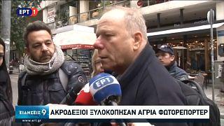 verletzter Journalist im Interview