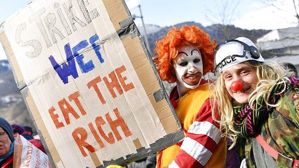 Thema Klima mit Trump? 600 Umweltaktivisten wandern nach Davos