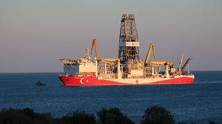 Doğu Akdeniz'de faaliyet gösteren 'Yavuz' isimli sondaj gemisi