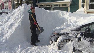 Рекордный снегопад на острове Ньюфаундленд