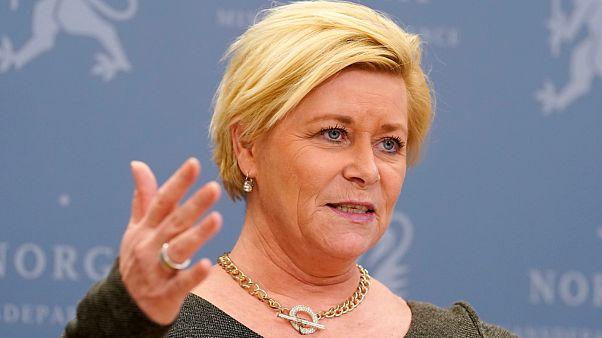 Hükümetten ayrılan Norveç Maliye Bakanı Siv Jensen