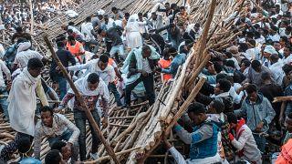 انهيار منصة خلال مهرجان عيد الغطاس في إثيوبيا ومقتل عشرة أشخاص