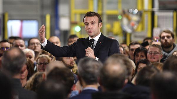 Fransa Cumhurbaşkanı Emmanuel Macron, iş insanlarıyla bir araya geldi