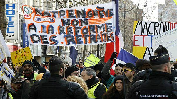 الإضراب ضد إصلاح نظام التقاعد في فرنسا