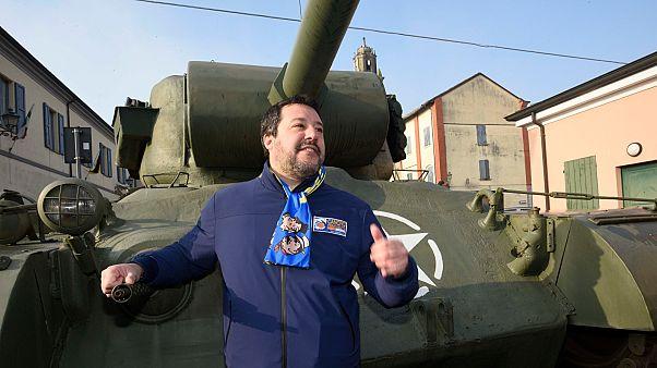Matteo Salvini Reggio Emiliában kampányol