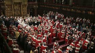 Archive image: Members of the House of Lords and guests in the chamber ahead of the State Opening of Parliament by Queen Elizabeth II, in London. 19 December 2019.