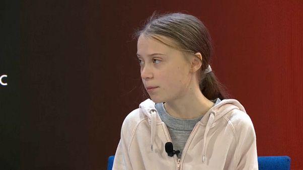 1. Tag des WEF in Davos: Erst Greta Thunberg, dann Donald Trump